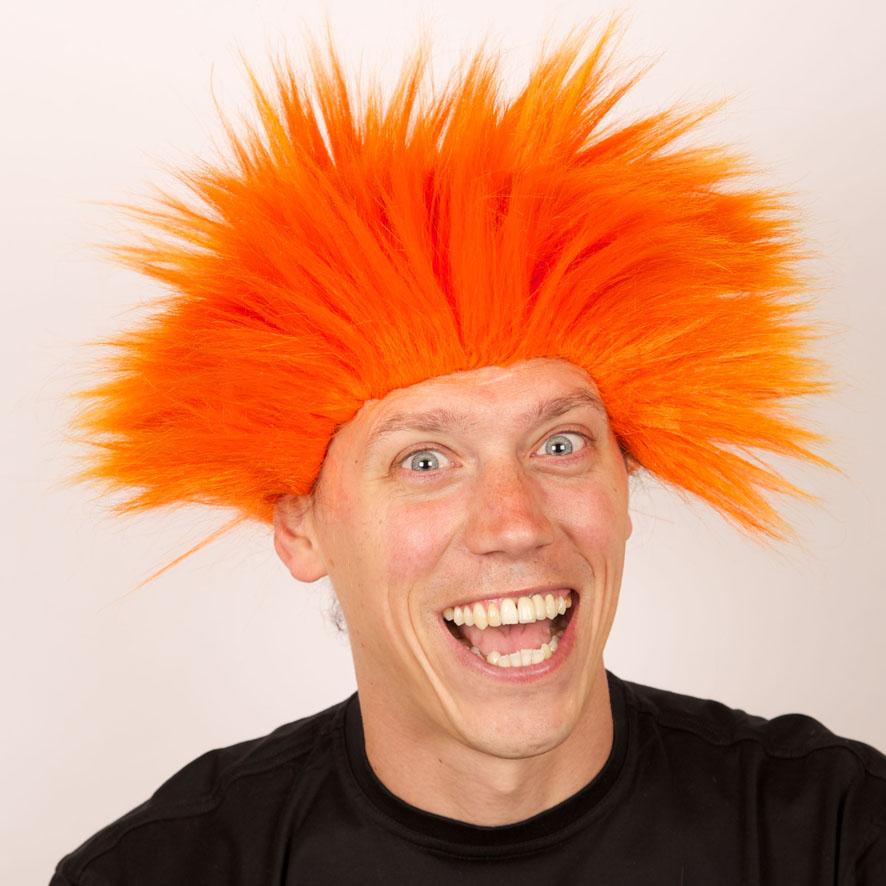 Perruque Electric shock orange