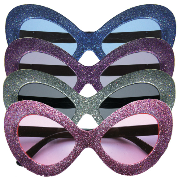 lot 4 Lunettes  disco paillettes ANONYMOUS