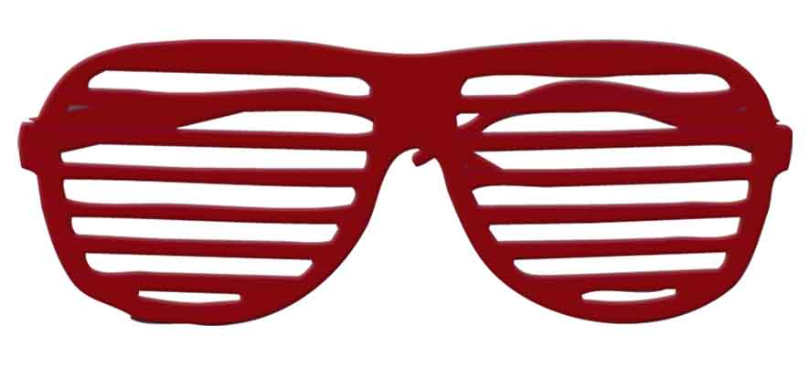 Lunettes disco screen rouge