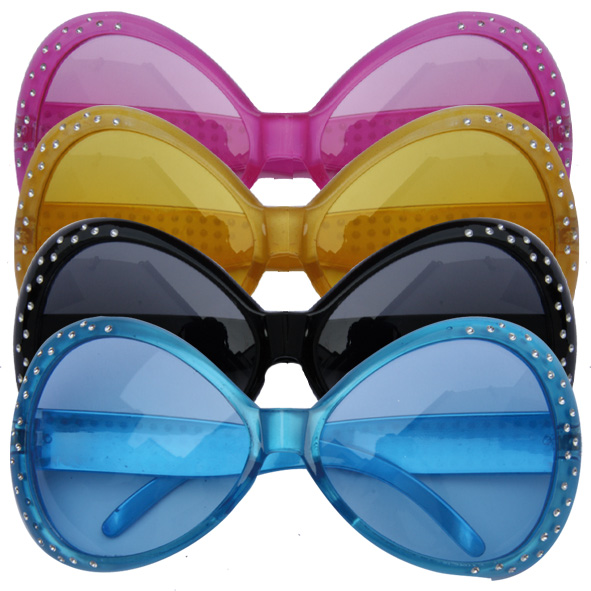 lot 4 Lunettes Flashy STRASS