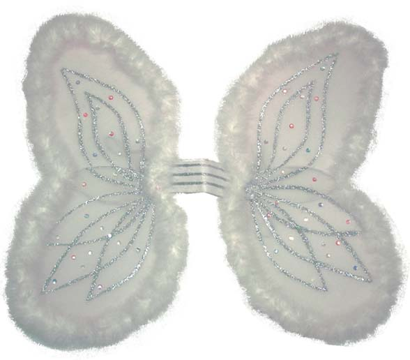 Ailes anges blanche marabou