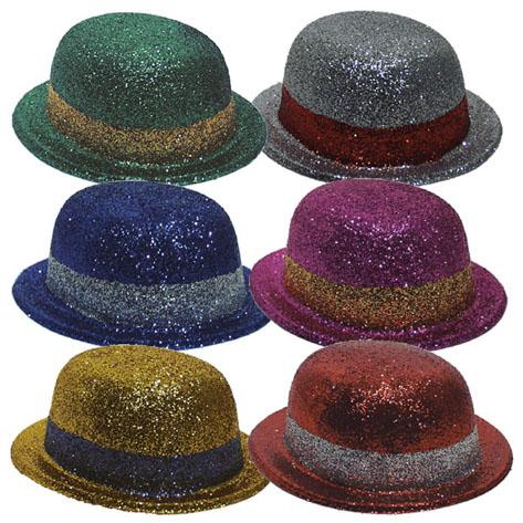 incl DEL Paillettes Paillettes Trilby chapeau noir Le Nouvel an Carnaval Piles
